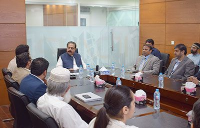 Orientation session & briefing to Mr. Sardar Muhammad Asif Nakai, Minister C&W