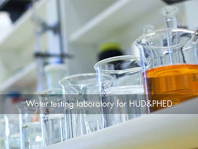Construction of state-of-the-art Water Testing Laboratory for HUD & PHED