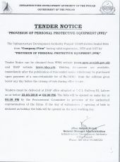 Provision of Personal Protective Equipment ( PPE )