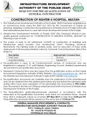 Construction of Nishtar-II Hospital, Multan