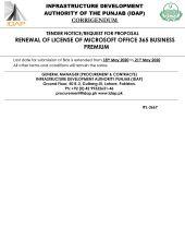 Corrigendum Renewal of License for Microsoft Office 365 Business Premium