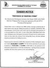 Provision of Printed Items