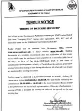 Hiring of Daycare Services