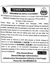 Provision of Office Stationary