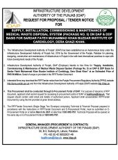 Supply, Installation, Commissioning & Maintenance of Medical Waste Disposal System (Package No. 5) on DAP & DDP Basis for SFMKBIC, DG Khan