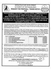 Procurement for Supply, Installation, Commissioning & Maintenance of Amino Acid Analyzer (Lot-10), Spectrophotometry (Lot-11), ZElectrophoresis & Elisa System (Lot-12), PCR System (Lot-13) & Microwave Digestion System (Lot-14) for for PAFDA, Lahore