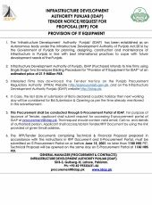 Request for Proposal for Provision of IT Equipment