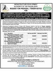 Procurement for Supply, Installation, Commissioning & Maintenance of Radiology Equipment (Package No.1, Lot-B, Lot-C and Lot-D) on DAP Basis, for Sardar Fateh Muhammad Khan Buzdar Institute of Cardiology, Dera Ghazi Khan