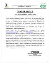 Provision of Diesel Generators (Corrigendum)