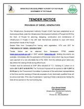 Provision of Diesel Generators