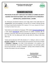 Provision of Security Services for Hiring Armed Security Guards