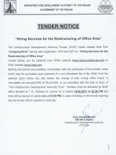 Ad Hiring Services For The Restructuring Of Office Area